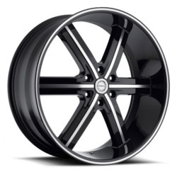 Strada SPAGO Black W/ Machined Face 26X10 6-135 Wheel