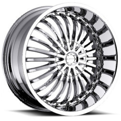 Strada SPINA Chrome 24X10 5-127 Wheel