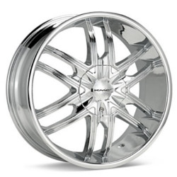 KMC SPLINTER Chrome 26X10 6-135 Wheel