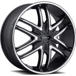 KMC SPLINTER Gloss Black With Milled Spokes 20X9 5-127 Wheel