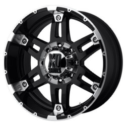 KMC-XD Series SPY Gloss Black Machined 20X9 5-139.7 Wheel