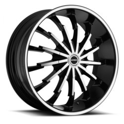 Strada STILETTO Black W/ Machined Face 20X9 5-112 Wheel
