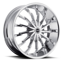 Strada STILETTO Chrome 22X9 5-112 Wheel