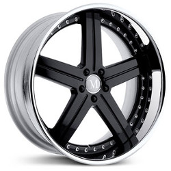 Mandrus STUTTGART Gloss Black Mirror Lip 22X11 5-112 Wheel