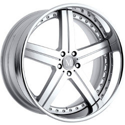 Mandrus STUTTGART Silver Machine Cut Face 22X10 5-112 Wheel