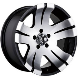Ion STYLE-138 Black/Machined 15X8 6-114.3 Wheel