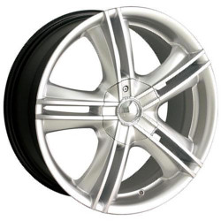 Ion STYLE-161 Hypersilver/Machined 17X7 4-100 Wheel