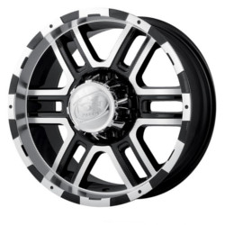 Ion STYLE-179 Black/Machined 16X8 5-127 Wheel