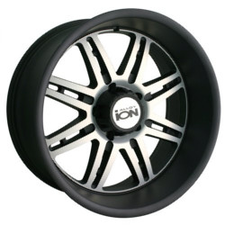 Ion STYLE-183 Matte Black/Machined 18X9 5-150 Wheel