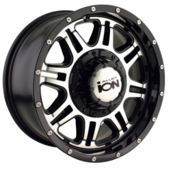 Ion STYLE-186 Black/Machined 16X8 5-127 Wheel