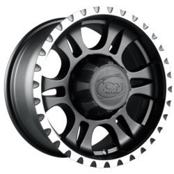 Ion STYLE-195 Matte Black/Machined 20X9 6-135 Wheel