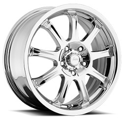 Vision STYLE-424 9X FWD Chrome 17X7 4-100 Wheel