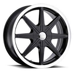 Vision STYLE378-KRYPTONITE FWD Glossblackmachinedlip 16X7 5-108 Wheel