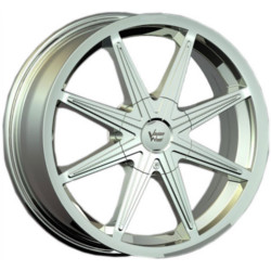 Vision STYLE378-KRYPTONITE FWD Hypersilvermachinedlip 17X7 5-108 Wheel