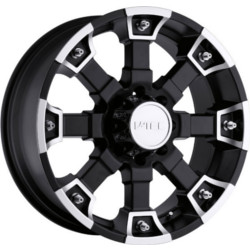 V-Tec STYLE 392-BRUTAL RWD Matte Black Machined Face 17X8 5-127 Wheel