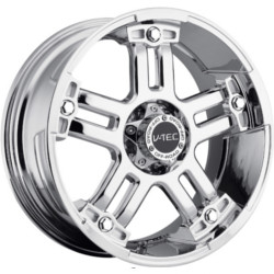 V-Tec STYLE 394-WARLORD RWD Chrome W/ Black Bolts 22X10 6-135 Wheel