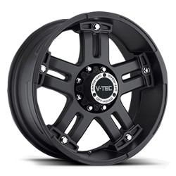 V-Tec STYLE 394-WARLORD RWD Matte Black W/ Chrome Bolts 20X9 8-170 Wheel