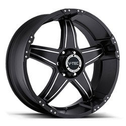 V-Tec STYLE 395-WIZARD RWD Matte Black Machined Face 22X10 6-135 Wheel