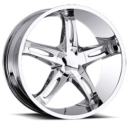 Vision STYLE435-HOLLYWOOD 5 RWD Chrome 20X9 5-114.3 Wheel