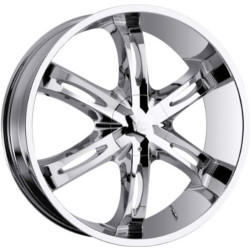 Vision STYLE436-HOLLYWOOD 6 RWD Chrome 22X10 5-135 Wheel