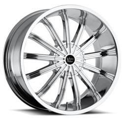 Vision STYLE456-XTACY RWD Chrome 24X10 6-114.3 Wheel
