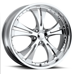 Vision STYLE539-SHOCKWAVE W/DIMPLES RWD Chrome 20X8 5-120 Wheel