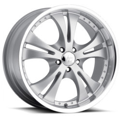 Vision STYLE539-SHOCKWAVE W/DIMPLES RWD Silverpaintmachinedlip 17X7 5-110 Wheel