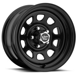 Vision STYLE84-DWIN RWD STEEL Black Wheel