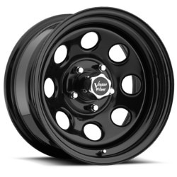 Vision STYLE85-SOFT RWD STEEL Black 15X7 5-139.7 Wheel