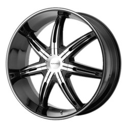 KMC SURGE Gloss Black Machined 26X10 5-112 Wheel