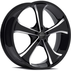 Baccarat SYNC Gloss Black With Milled Accents 20X9 6-139.7 Wheel