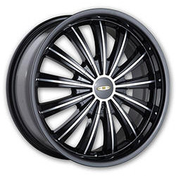 Baccarat TABOO Black/Machined 18X8 4-114.3 Wheel