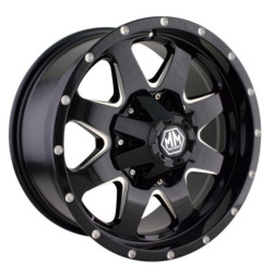 Mayhem TANK Black/Milledspoke 17X9 6-135 Wheel