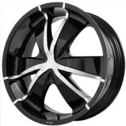 Envy TARANTULAS Black/Machined 22X9 5-115 Wheel