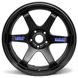 Volk Racing TE37 Flat Black 19X9 5-120 Wheel