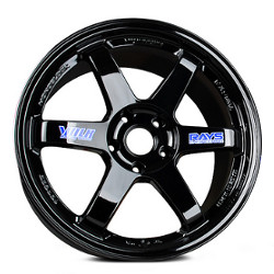 Volk Racing TE37 Gloss Black 18X10 5-120.7 Wheel
