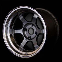 Volk Racing TE37V Gunmetal/Dc Lip 15X9 4-114.3 Wheel