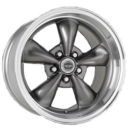 Carroll Shelby TORQ THRUST M Anthracite With Machined Lip 17X7 5-114.3 Wheel