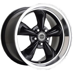 Carroll Shelby TORQ THRUST M Gloss Black With Machined Lip 22X10 5-115 Wheel