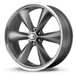 American Racing TORQ THRUST ST Magnesium Gray W/ Mach Lip 20X9 6-135 Wheel