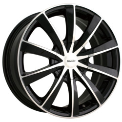 Touren TR10 Black W/ Machined Face 17X7 4-114.3 Wheel
