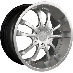 Touren TR5 Hypersilver W/ Machined Lip 18X8 5-115 Wheel