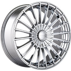 Touren TR50 Chrome 17X7 5-100 Wheel