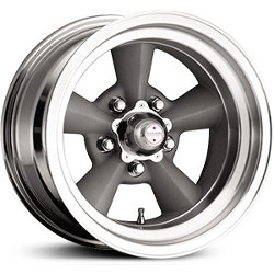 American Racing Hot Rod TT O Painted Gray W Machined Lip 15X9 5-139.7 Wheel