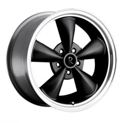 OE Replicas TYPE 180 - BULLET Black W/ Machined Lip 17X9 5-114.3 Wheel