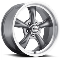 OE Replicas TYPE 180 - BULLET Charcoal W/ Machined Lip 17X8 5-120.7 Wheel