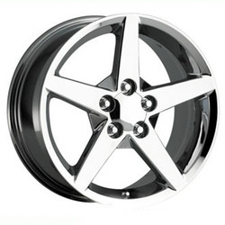 OE Replicas TYPE 206 - C6 VETTE Chrome 18X10 5-120.7 Wheel