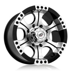 Rev TYPE 824 - SHOOTER M/Black 17X9 8-170 Wheel