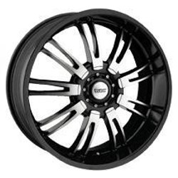 Rev TYPE 829 - BLACKHAWK M/ Black 18X8 5-115 Wheel