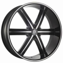U2 U2-55S Black Machined Face W/ Machined Line 26X10 6-139.7 Wheel